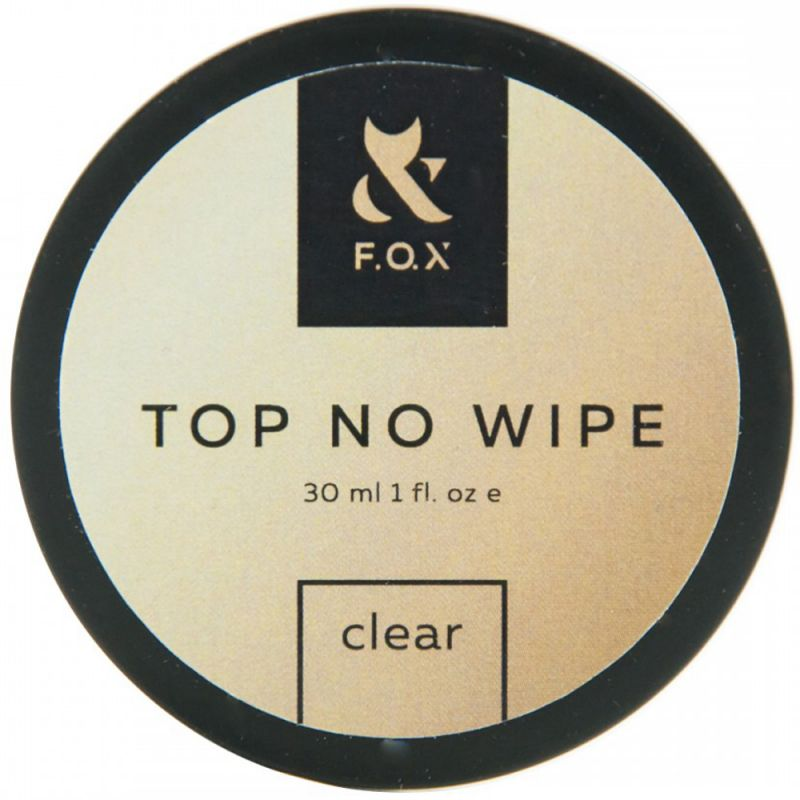 Топ для гель-лака без липкого слоя F.O.X Top No Wipe Clear (банка) 30 мл