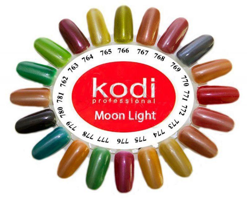 Гель лак Kodi Moon Light №769 (серо-бирюзовый, кошачий глаз) 8 мл