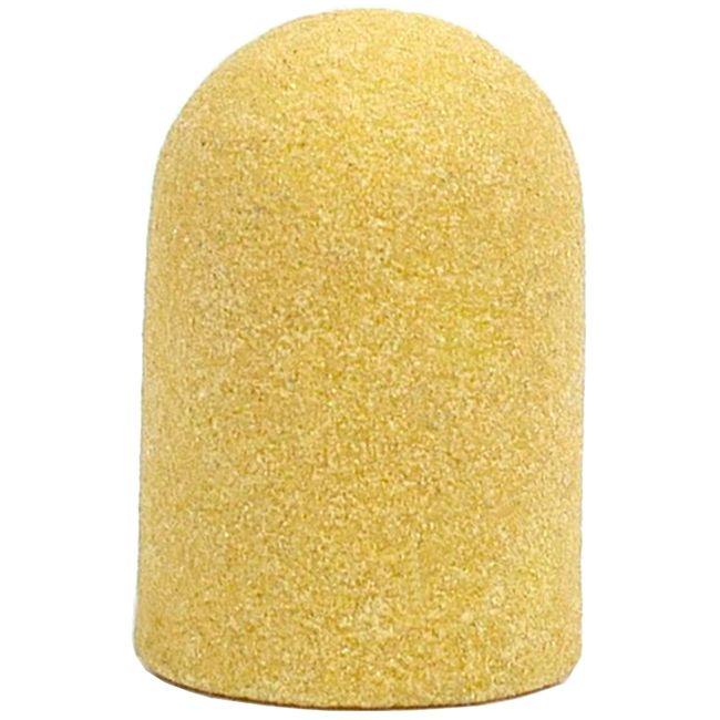 Колпачок абразивный (диаметр 10 мм, абразивность 240 грит, желтый) 10 штук
