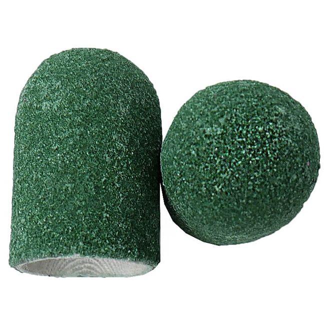Колпачок абразивный (диаметр 10 мм, абразивность 80 грит, зеленый) 10 штук