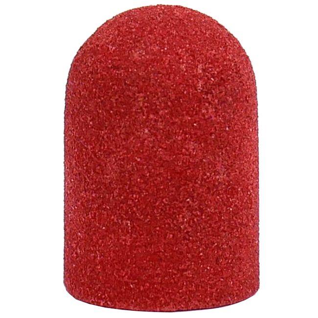 Колпачок абразивный (диаметр 13 мм, абразивность 120 грит, красный) 10 штук