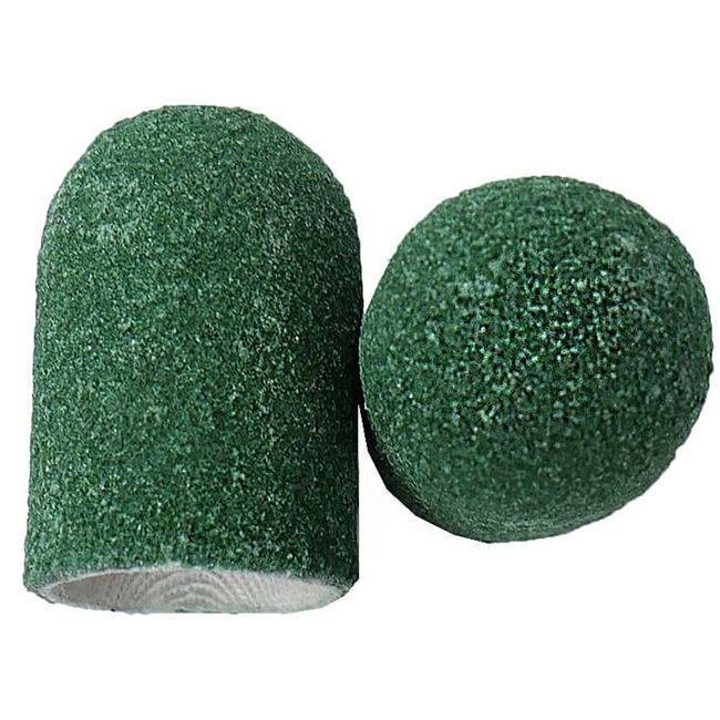 Колпачок абразивный (диаметр 16 мм, абразивность 80 грит, зеленый) 10 штук