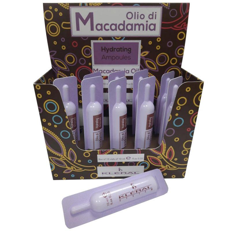 Ампулы для увлажнения волос Kleral System Olio Di Macadamia Hydrating Ampoules 10х10 мл