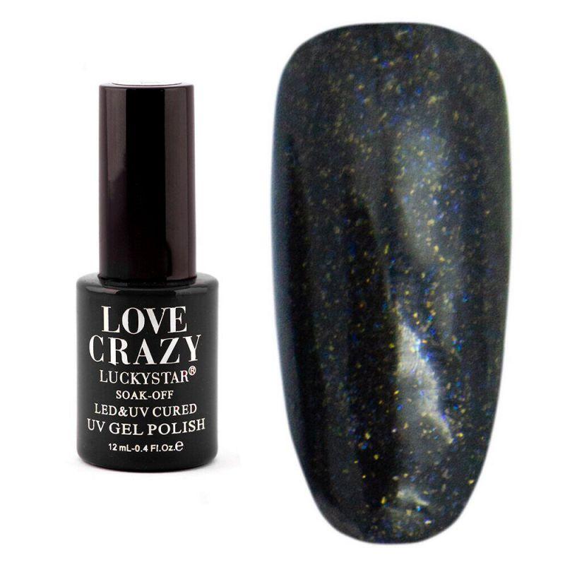 Гель-лак Milano Love Crazy LuckyStar №054 (черный с микроблеском) 12 мл