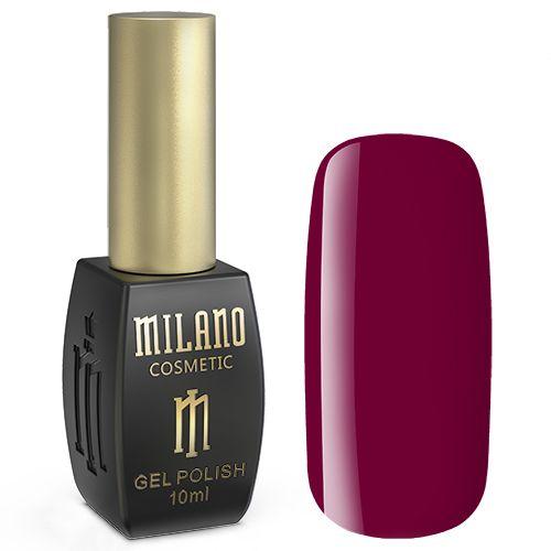 Гель-лак Milano №160 (красно-малиновый, эмаль) 10 мл