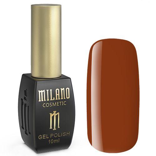 Гель-лак Milano №169 (темно-оранжевый, эмаль) 10 мл