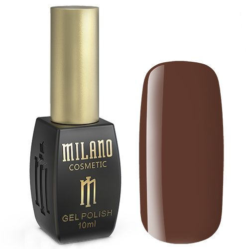 Гель-лак Milano №172 (шоколадно-коричневый, эмаль) 10 мл