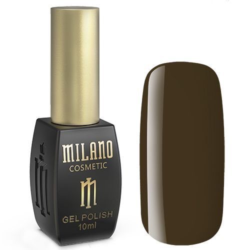 Гель-лак Milano №173 (оливково-коричневый, эмаль) 10 мл