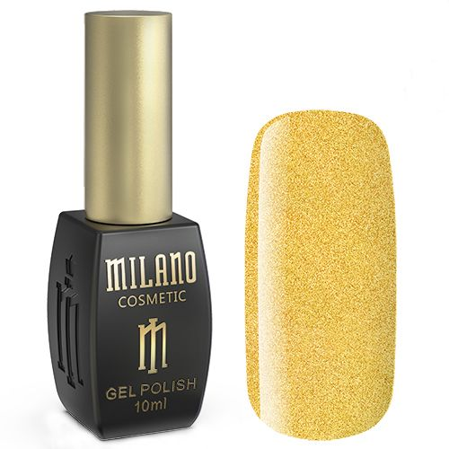 Гель-лак Milano №196 (желтый с блестками) 10 мл