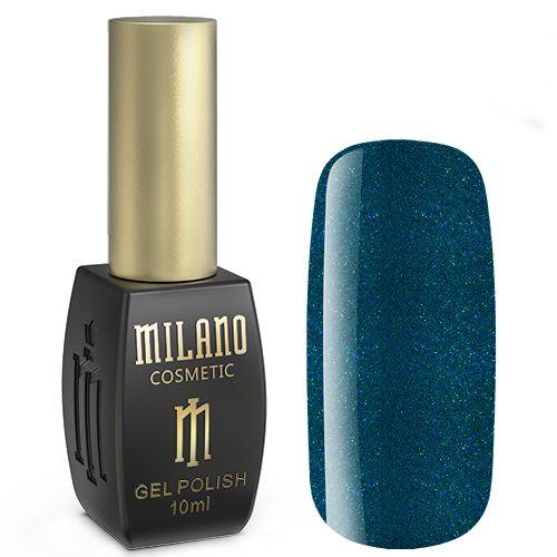 Гель-лак Milano №277 (зеленовато-синий с блестками) 10 мл