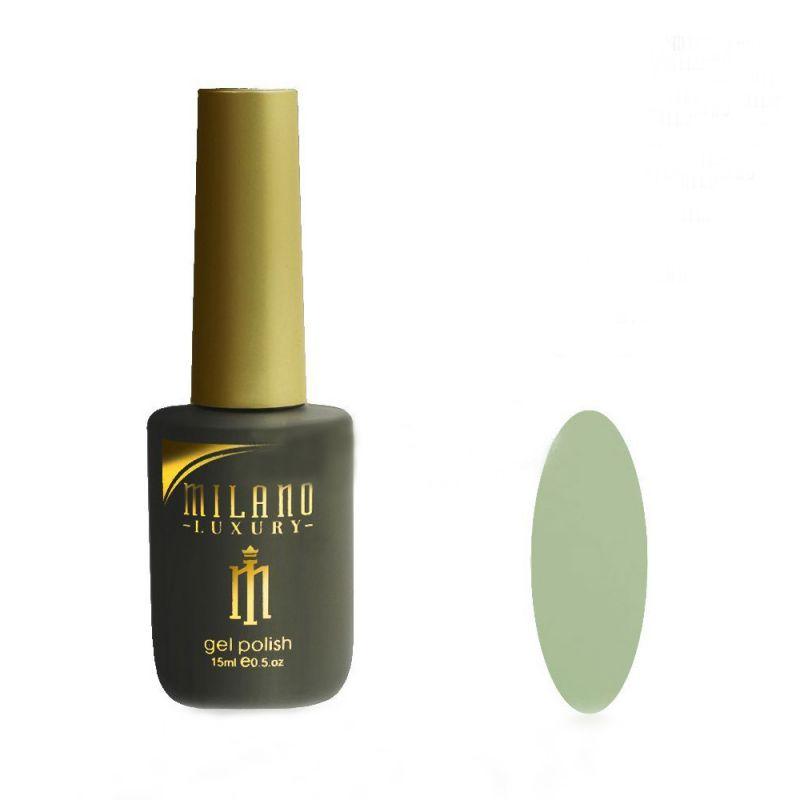 Гель-лак Milano Luxury №052 (бело-зеленый, эмаль) 15 мл