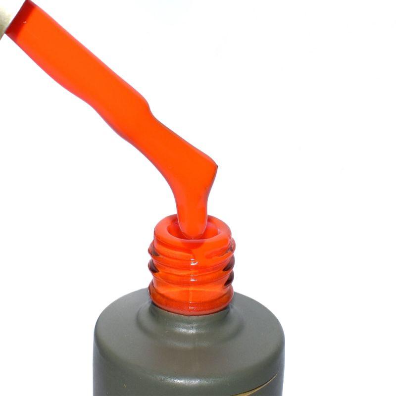 Гель-лак Milano Luxury №070 (кислотно-оранжевый, эмаль) 15 мл