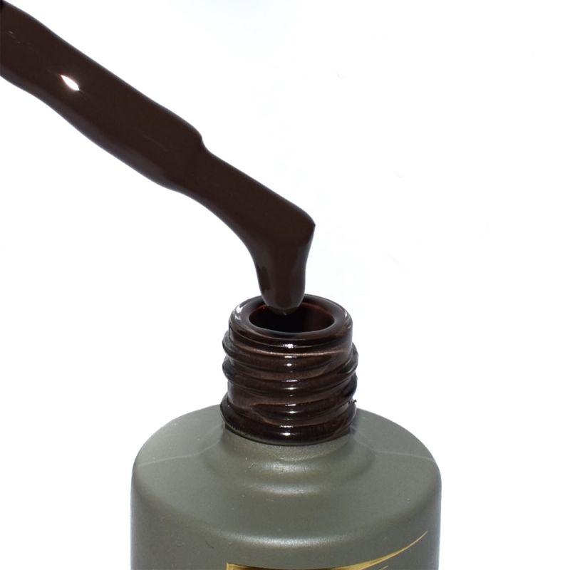 Гель-лак Milano Luxury №098 (темно-коричневый, эмаль) 15 мл
