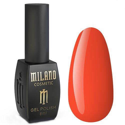 Гель-лак Milano Neon №004 (оранжево-алый, эмаль) 8 мл