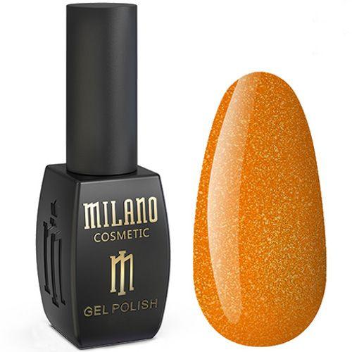 Гель-лак Milano Jasper №004 (оранжевый с микроблеском) 10 мл