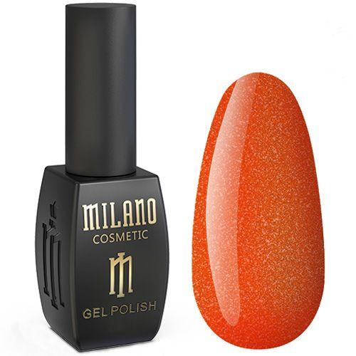 Гель-лак Milano Jasper №010 (красно-оранжевый с микроблеском) 10 мл