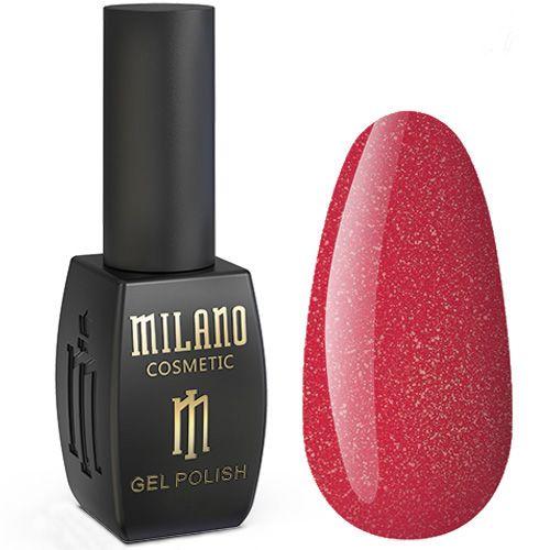 Гель-лак Milano Jasper №012 (красно-малиновый с микроблеском) 10 мл