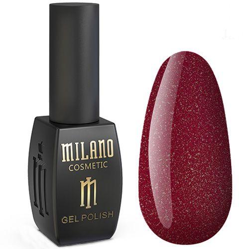 Гель-лак Milano Jasper №014 (бордовый с микроблеском) 10 мл