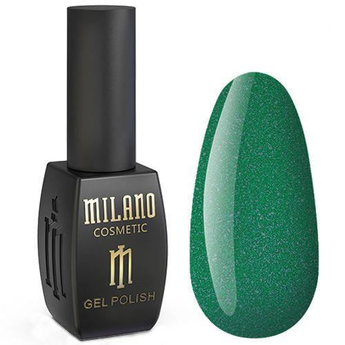 Гель-лак Milano Jasper №017 (насыщенный зеленый с микроблеском) 10 мл