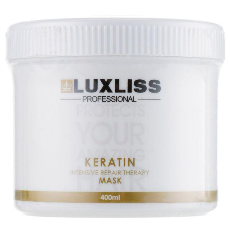 Кератиновая маска для волос восстанавливающая Luxliss Keratin Mask 400 мл