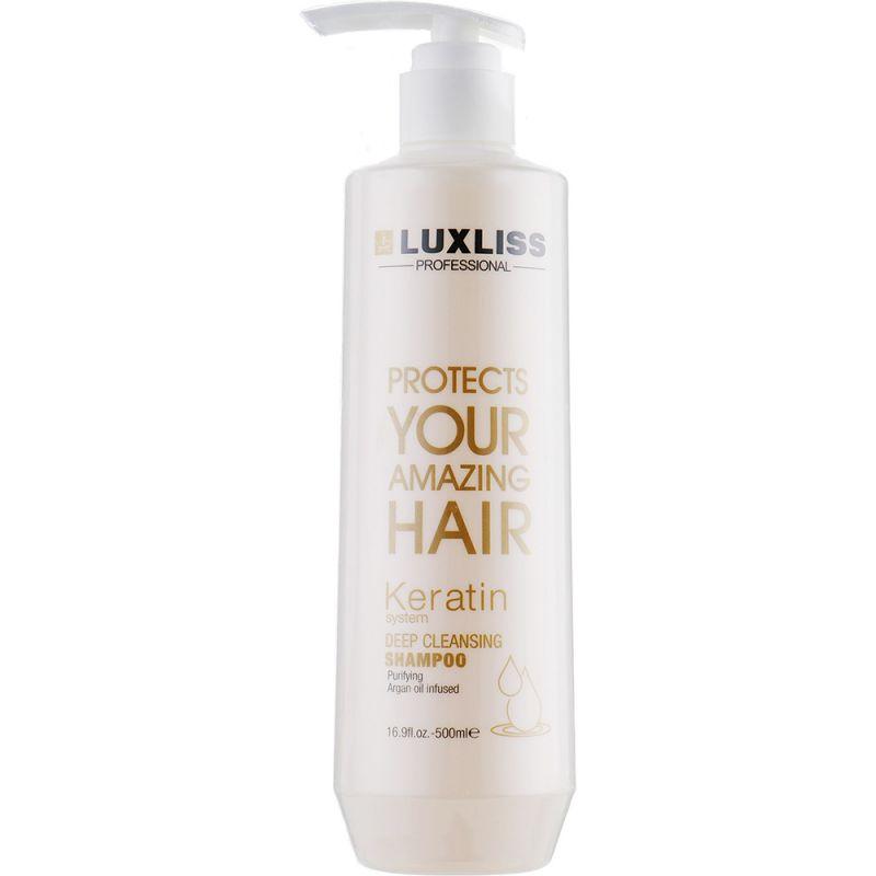 Кератиновый шампунь для волос очищающий Luxliss Deep Cleansing Shampoo 500 мл