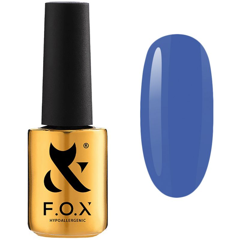 Гель-лак F.O.X Gel Polish Masha Efrosinina №014 (синий, эмаль) 7 мл