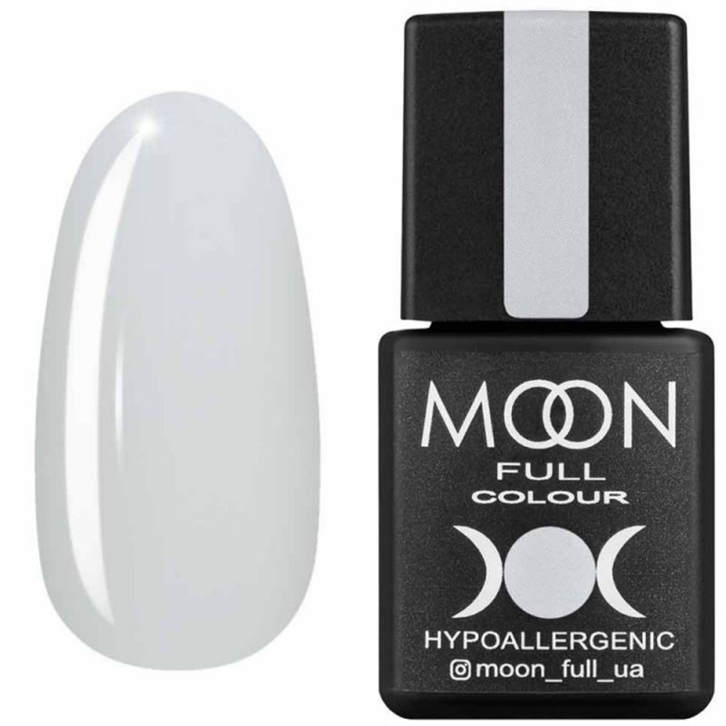 Гель-лак Moon Full Air Nude №02 (белый полупрозрачный, эмаль) 8 мл