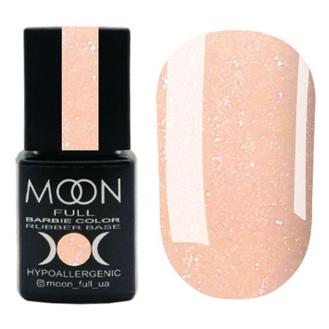 База для гель-лака Moon Full Barbie Color Rubber Base №03 (нежно-персиковый с микроблеском) 8 мл