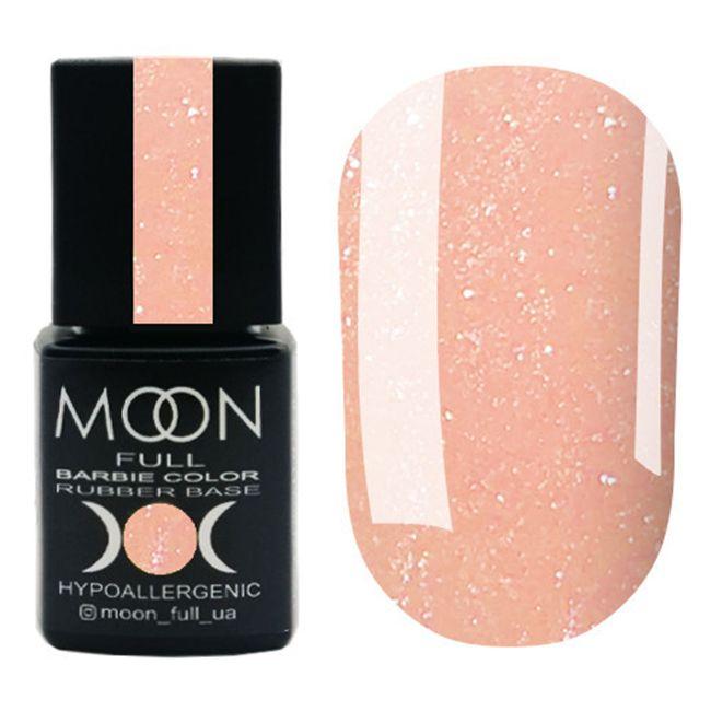 База для гель-лака Moon Full Barbie Color Rubber Base №04 (персиковый с микроблеском) 8 мл