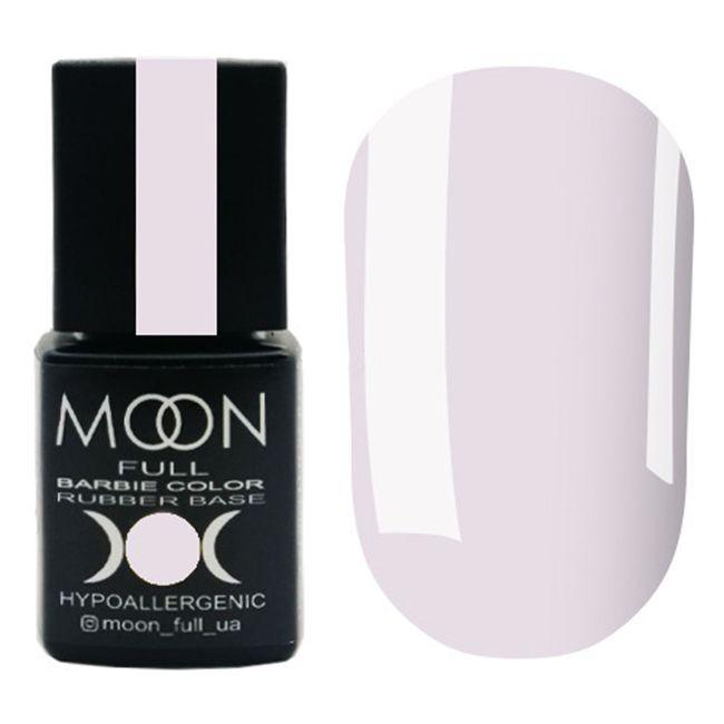 База для гель-лака Moon Full Barbie Color Rubber Base №10 (нежно-лиловый) 8 мл