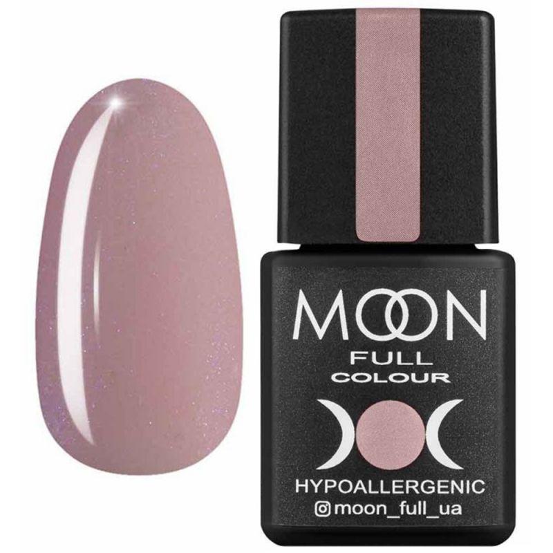 База для гель-лака Moon Full French №16 (розовый с микроблеском) 8 мл