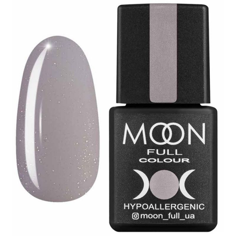 База для гель-лака Moon Full French №17 (молочно-лиловый с микроблеском) 8 мл