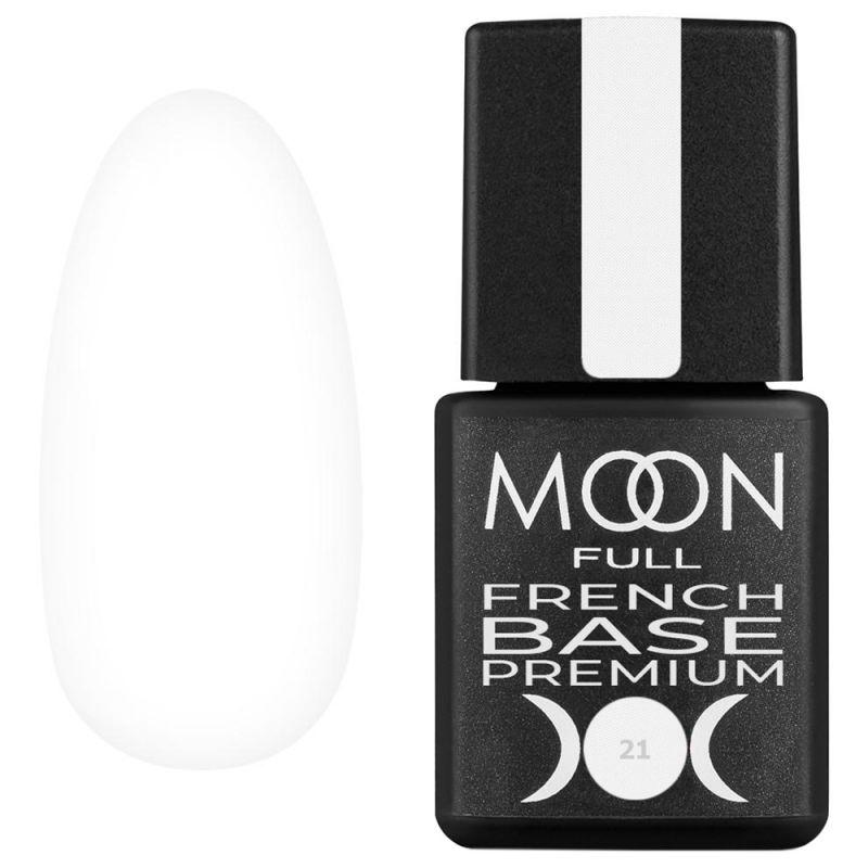 База для гель-лака Moon Full Base French Premium №21 (белый) 8 мл