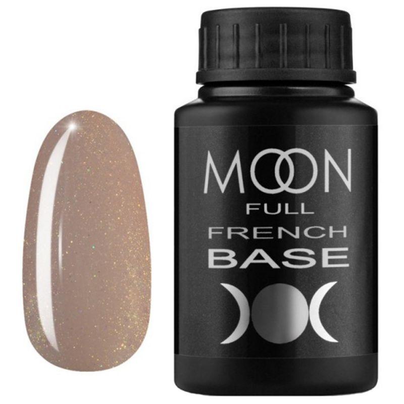 База для гель-лака Moon Full French №13 (бежевый с микроблеском) 30 мл