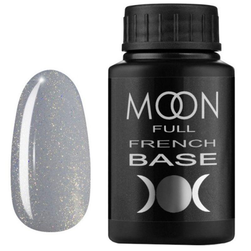 База для гель-лака Moon Full French №14 (дымчатый с микроблеском) 30 мл
