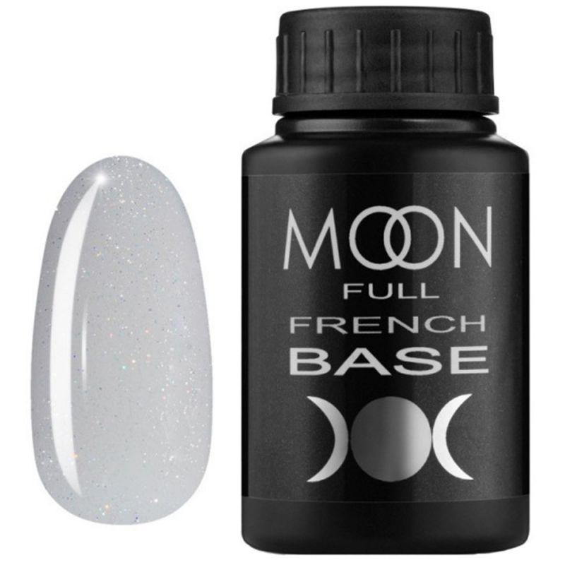 База для гель-лака Moon Full French №15 (светло-серый с микроблеском) 30 мл