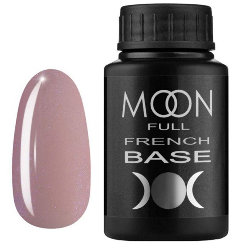База для гель-лака Moon Full French №16 (розовый с микроблеском) 30 мл