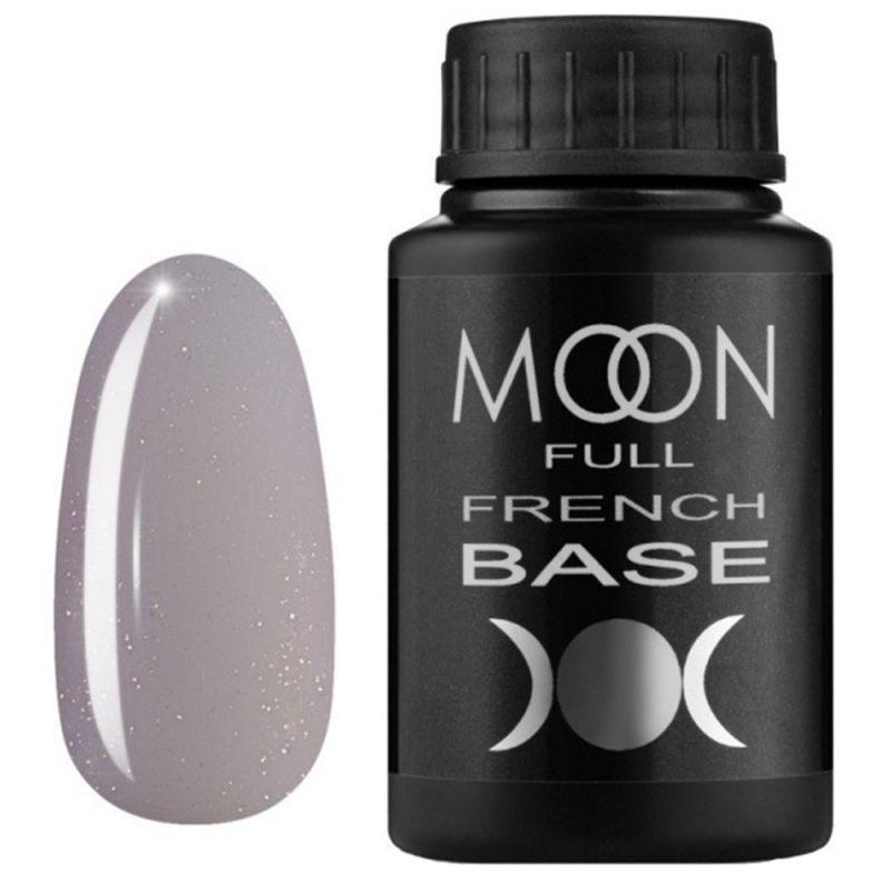 База для гель-лака Moon Full French №17 (серый с микроблеском) 30 мл