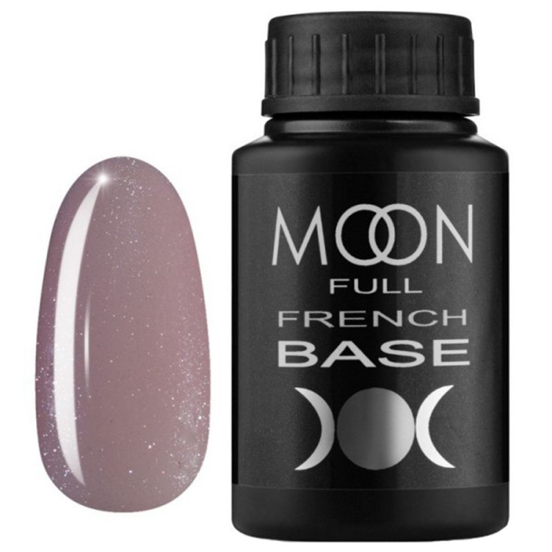 База для гель-лака Moon Full French №18 (темно-бежевый с микроблеском) 30 мл