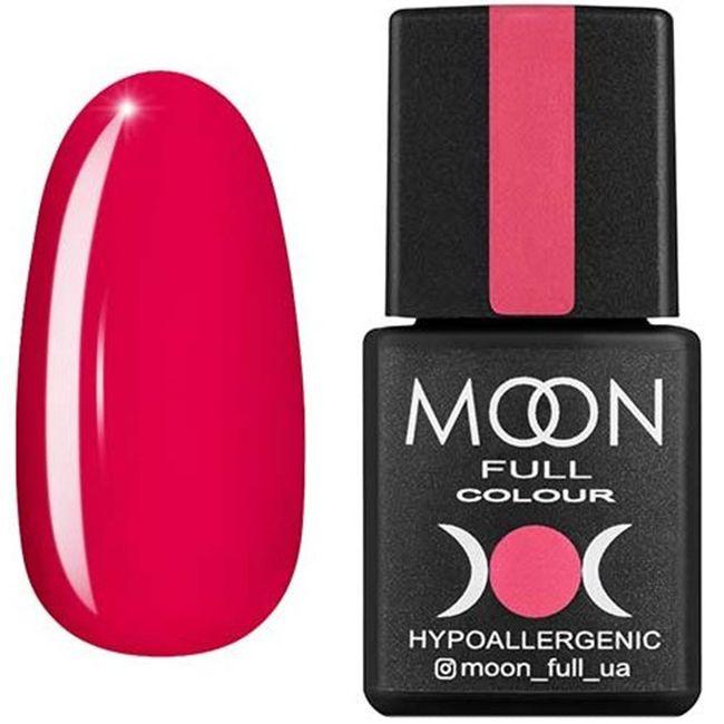 Гель-лак Moon Full Color №115* (розово-красный, эмаль) 8 мл