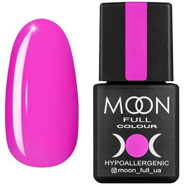 Гель-лак Moon Full Color №118* (неоново-розовый, эмаль) 8 мл