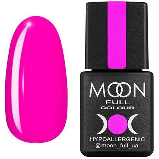 Гель-лак Moon Full Color №121* (глубокий ярко-розовый, эмаль) 8 мл