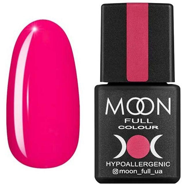 Гель-лак Moon Full Color №123* (розовый амарантовый, эмаль) 8 мл