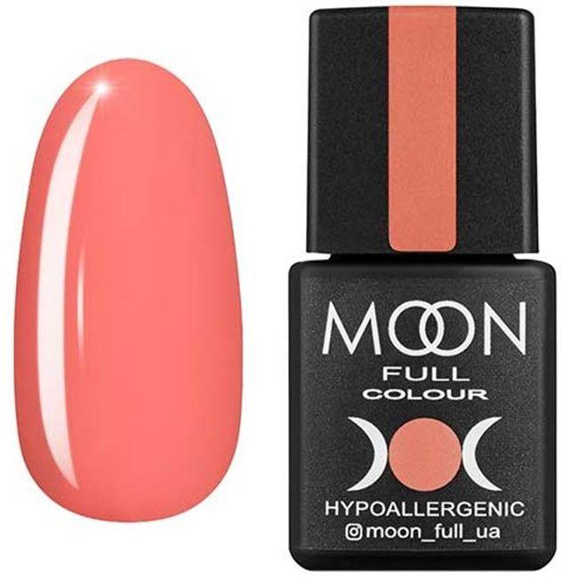 Гель-лак Moon Full Color №124 (лососево-оранжевый, эмаль) 8 мл