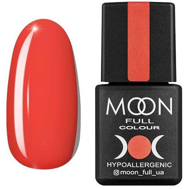 Гель-лак Moon Full Color №125* (оранжево-красный, эмаль) 8 мл