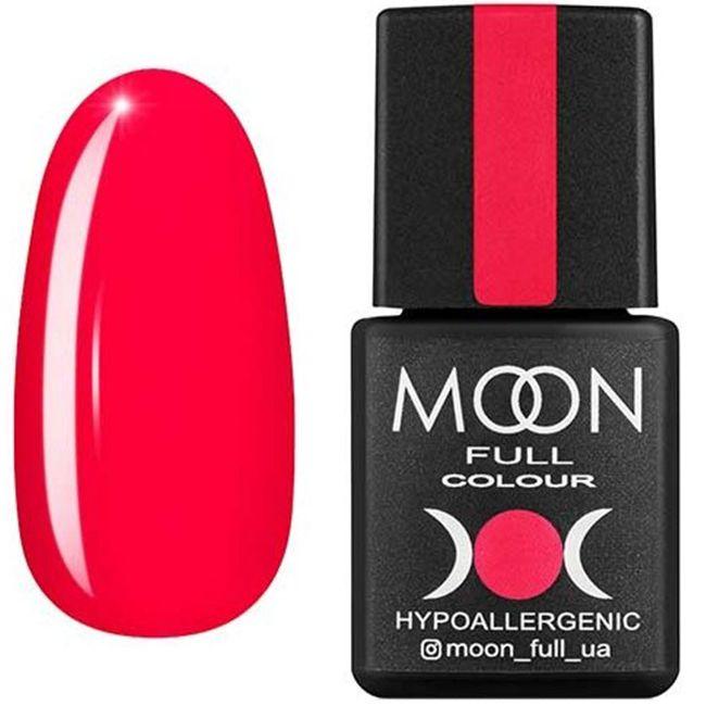 Гель-лак Moon Full Color №126* (яркий огненно-розовый, эмаль) 8 мл