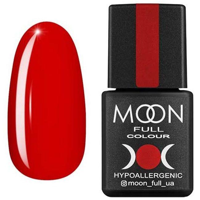 Гель-лак Moon Full Color №127 (красно-оранжевый темный, эмаль) 8 мл