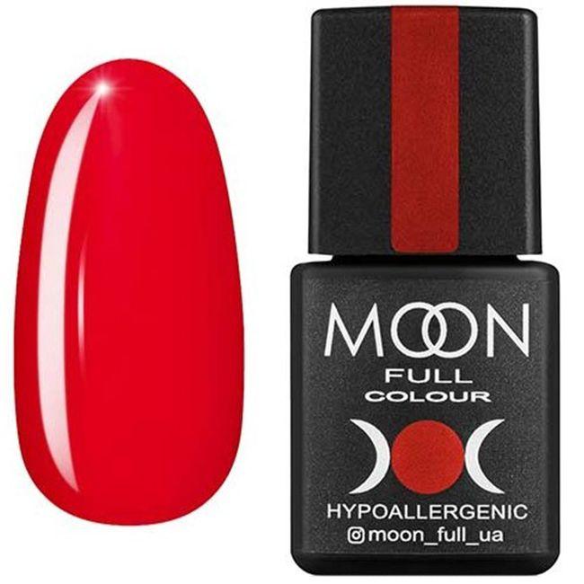 Гель-лак Moon Full Color №128* (карминово-красный, эмаль) 8 мл