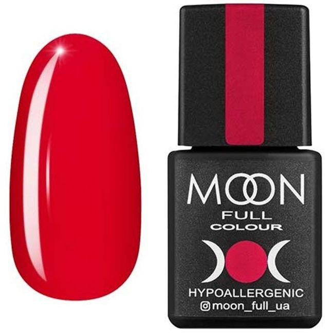 Гель-лак Moon Full Color №130* (теплый розово-красный, эмаль) 8 мл