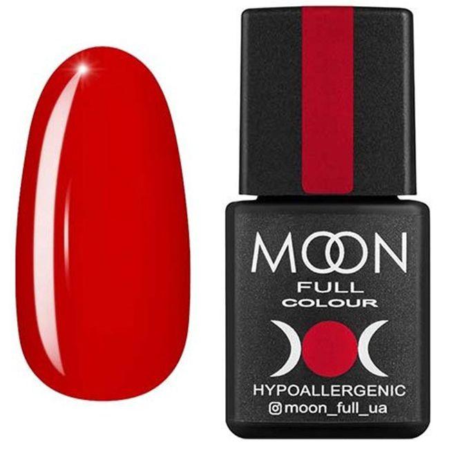 Гель-лак Moon Full Color №136 (огненно-красный, эмаль) 8 мл